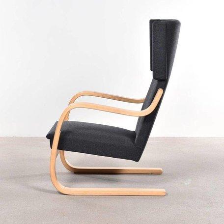 Aalto 401 fauteuil - Antraciet wolvilt