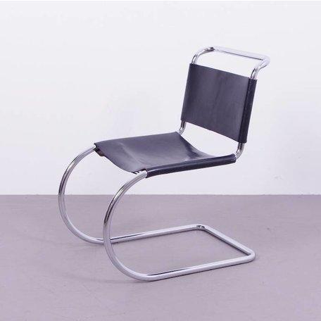 Mies van der Rohe MR10 stoel - Zwart leer