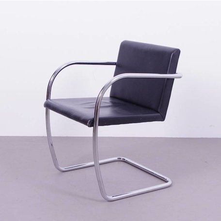 Mies van der Rohe BRNO stoel - Zwart leer