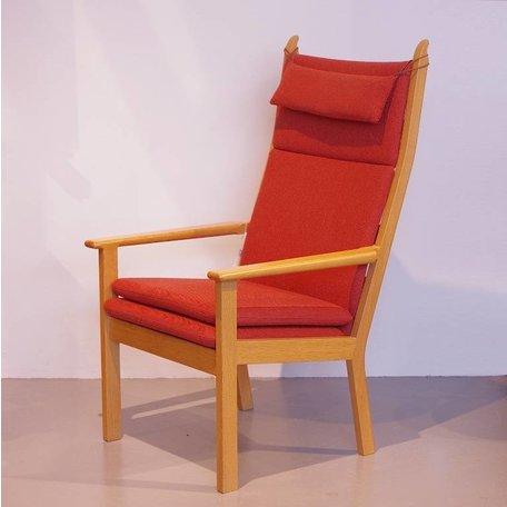 Hans Wegner GE 284A fauteuil steenrood wol