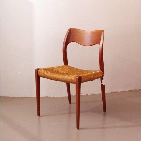 Moller 71 stoelen - Set van 3 - Teak gevlochten zitting