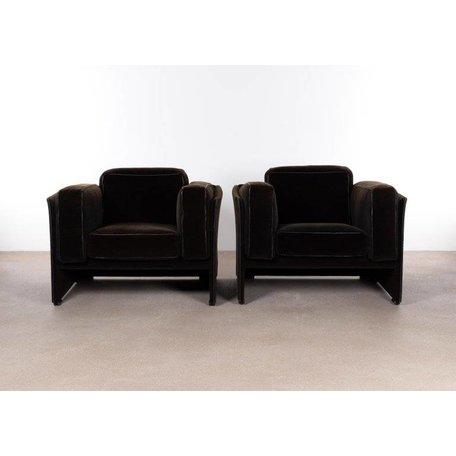 Mario Bellini 405 duc fauteuil d.bruin stof Cassina jaren 70