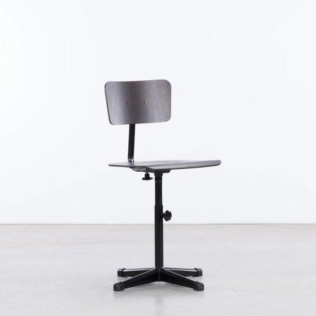 Jops Werkstoel Zwart / donker bruin