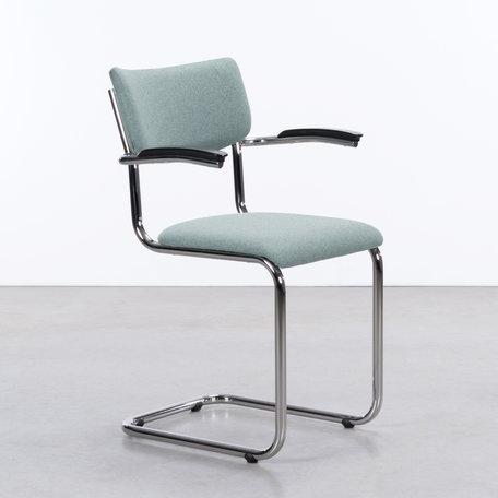 De Purmer with armrests Wool Felt Mint