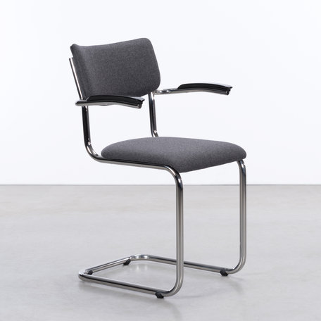 De Purmer  with armrests wool felt  mid grey.