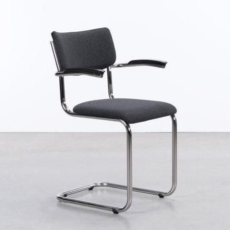 De Purmer with armrests Wool Felt Dark Grey