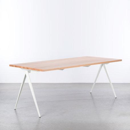 TD4 Table White / Beech