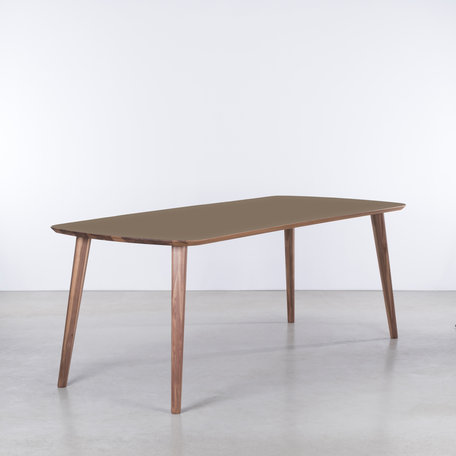 Tomrer Table Clay gray Fenix top - Walnut legs