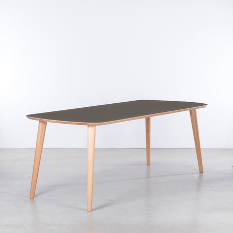 Tomrer Table gray Fenix top - Beech legs