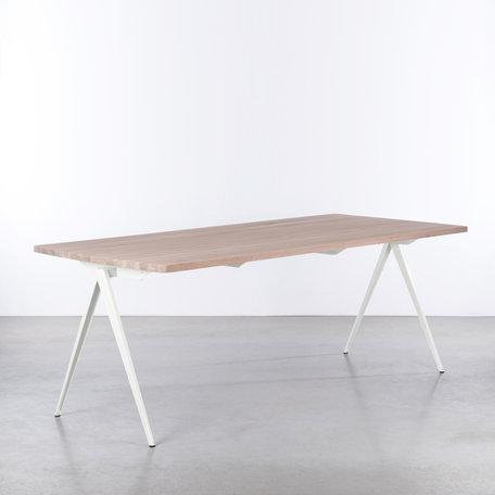 TD4 Table White / Oak Whitewash