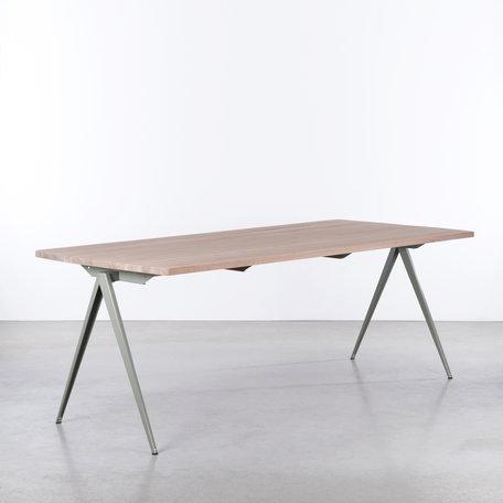 TD4 Table Cement Gray / Oak Whitewash