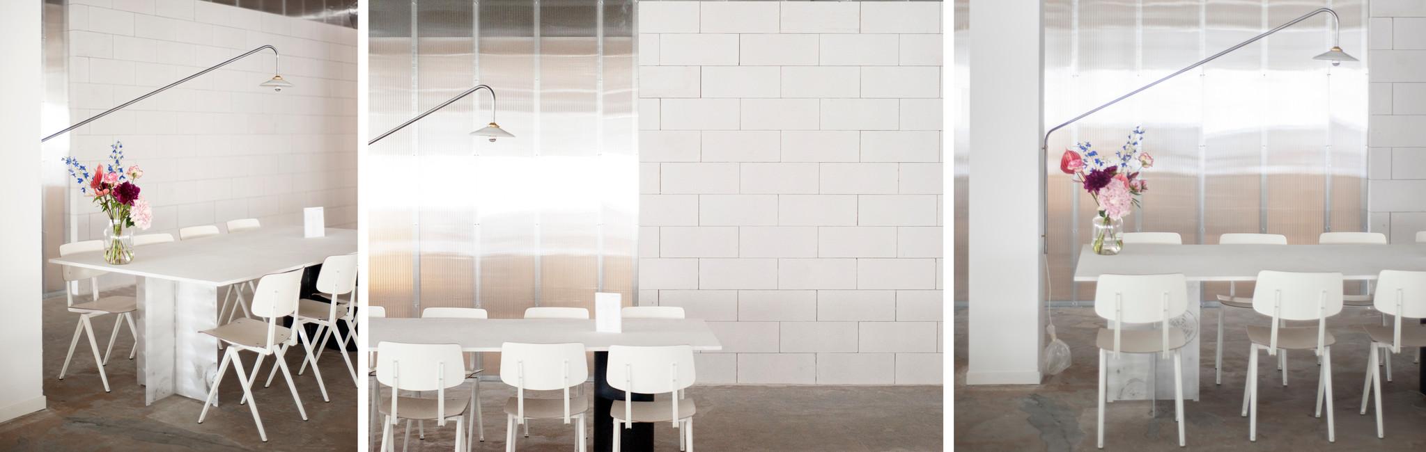Projectinrichting kantoor Galvanitas S16 stoelen wit