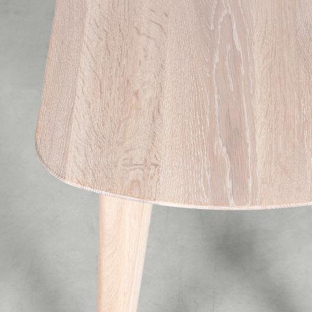 Tomrer Dining table bench Oak Whitewash