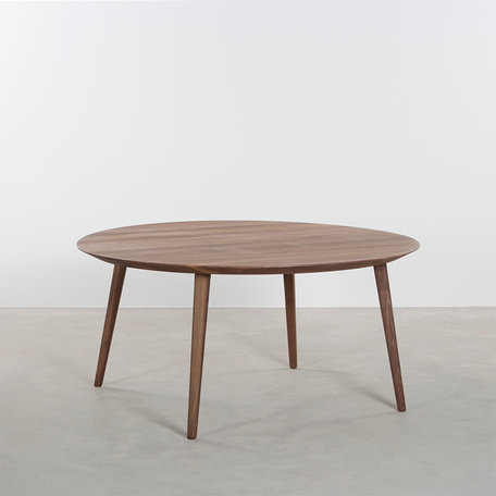 Tomrer Coffee Table Round Walnut - 4 Legs