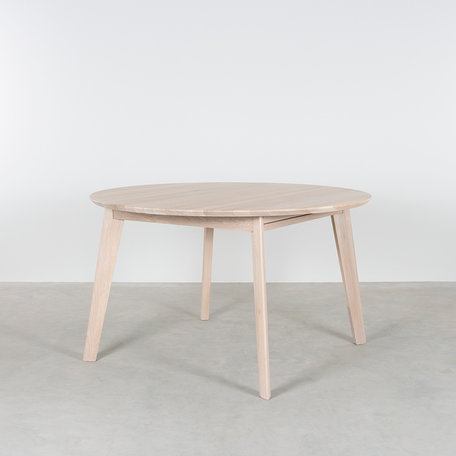 Nonne Table Round Extendable Oak Whitewash