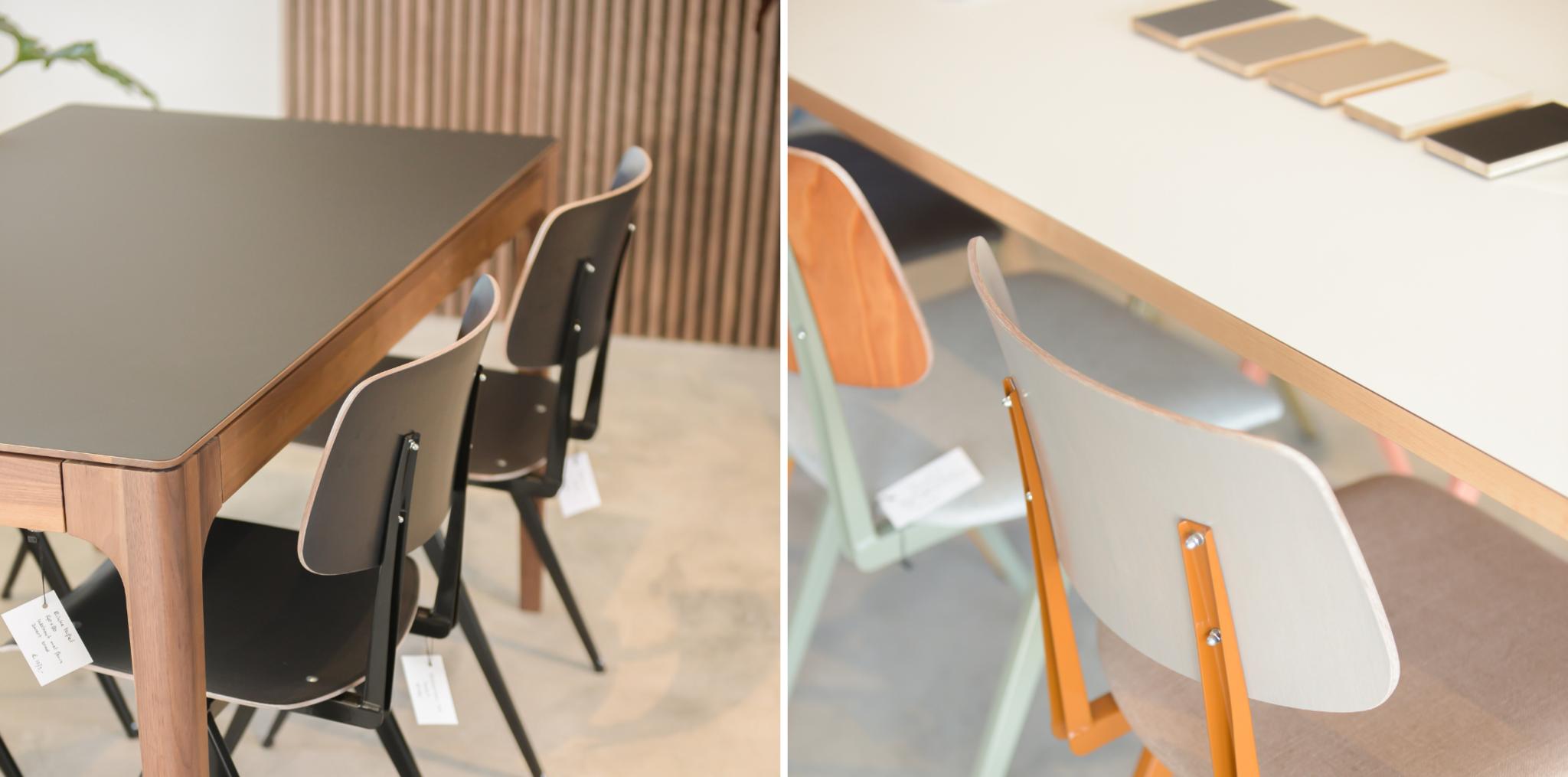 houten tafel met fenix blad