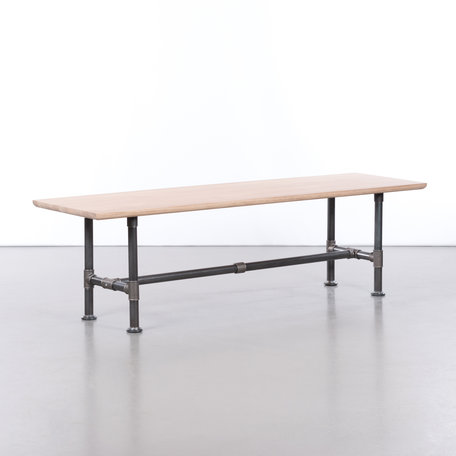 Ditte Dining table bench Oak Whitewash