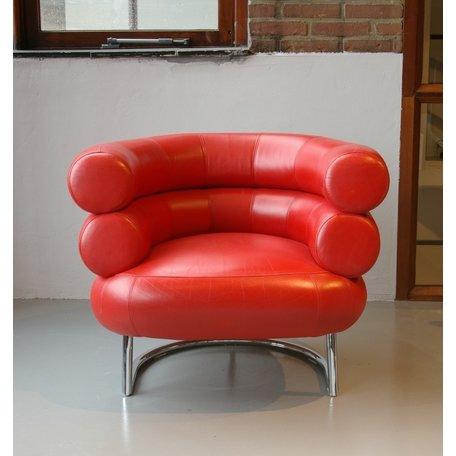 Gray Bibendum fauteuil - Rood leer