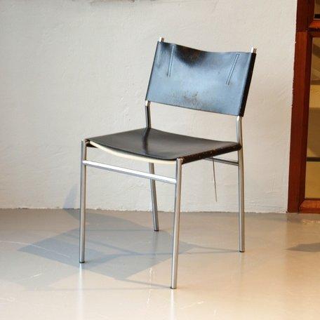 Visser SE06 stoel - Zwart leer