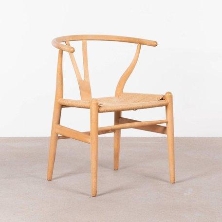 Hans J. Wegner wishbone chairs set (4 stuks) beuken hout