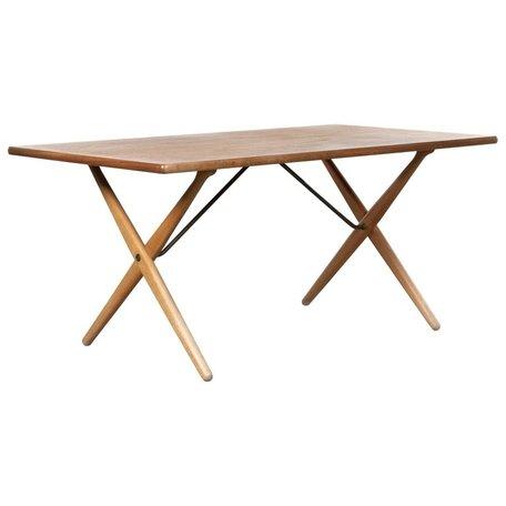 Hans Wegner tafel AT303  teak Andreas Tuck jaren 50