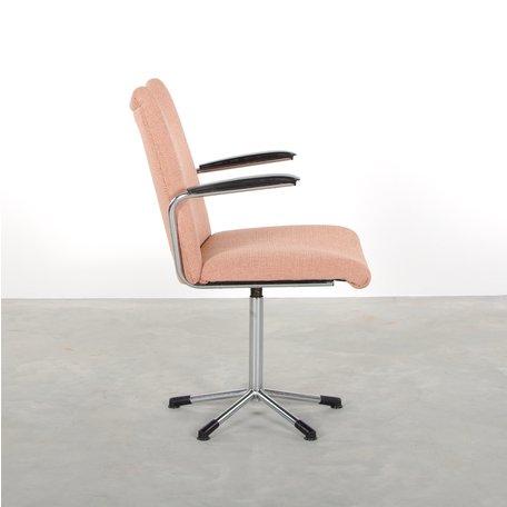 de Wit 3314 bureaustoel licht roze de ploeg stof