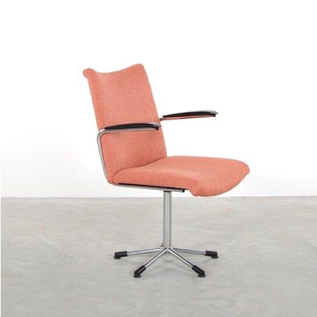 de Wit 3314 bureaustoel roze de ploeg stof