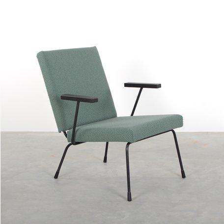 Gispen 1407 fauteuil kvadrat coda groen Wim Rietveld en A.R. Cordemeyer