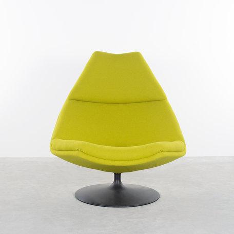 Geoffrey Harcourt F510 fauteuil Artifort geel/groene kvadrat stof