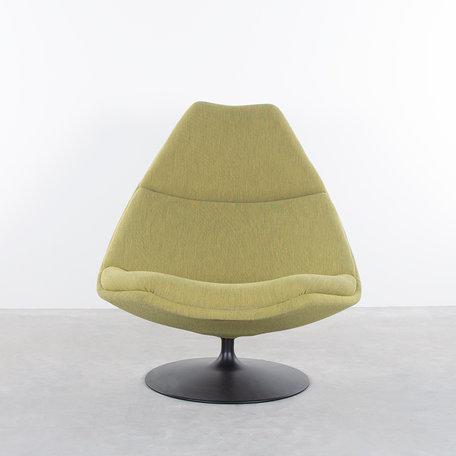 Geoffrey Harcourt F510 fauteuil Artifort groene febrik stof