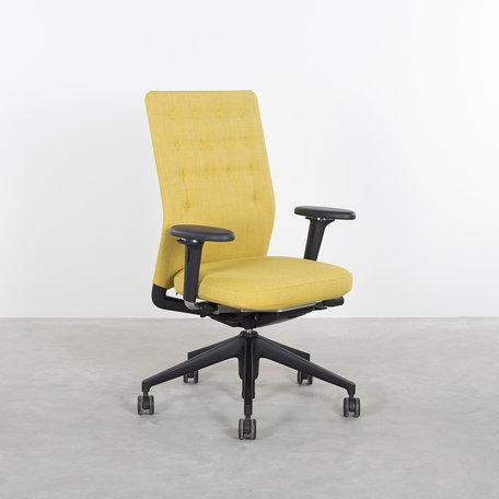 Vitra ID trim bureaustoel geel Antonio Citterio