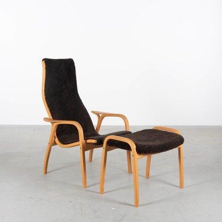 Lamino fauteuil en voetenbank Yngve Ekström Swedese