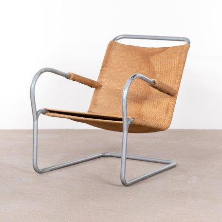 Bas van Pelt buisframe fauteuil. Jaren 30 zeldzaam
