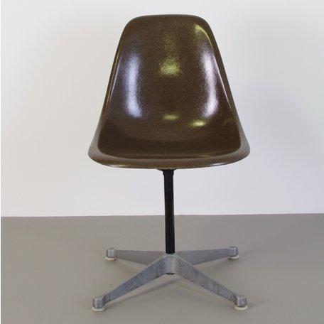 Eames Fiberglass PSC chair - Seal Brown