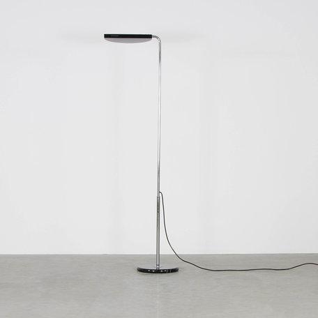 Bruno Gecchelin Mezzaluna stalamp zwart metaal halogeen