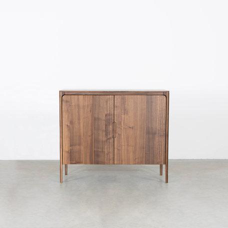 Rikke Highboard Cabinet Walnut 2-door