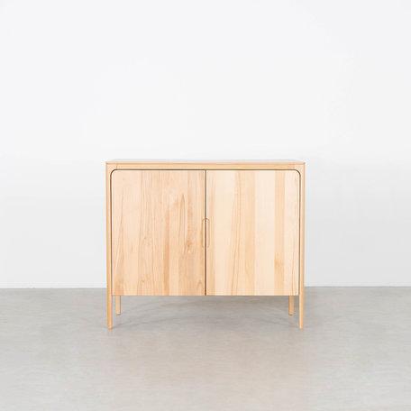 Rikke Highboard Cabinet Beech 2-door