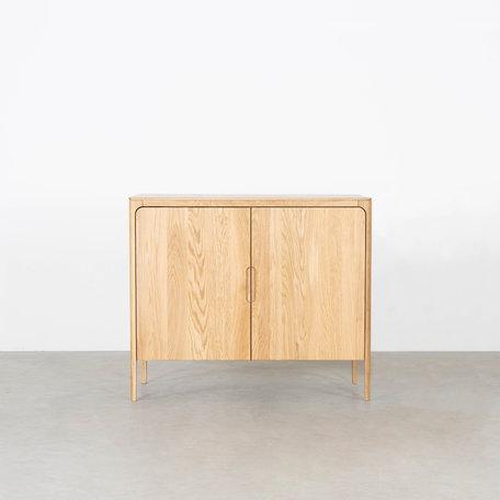 Rikke Highboard Cabinet Oak 2-door