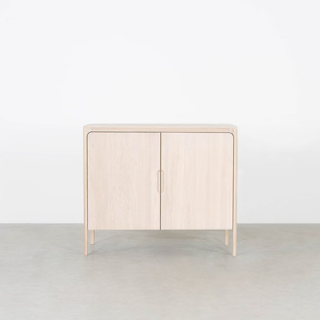 Rikke Highboard Cabinet Oak Whitewash 2-door