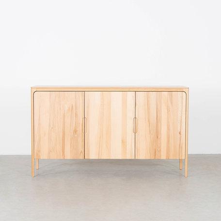 Rikke Highboard Cabinet Beech 3-door