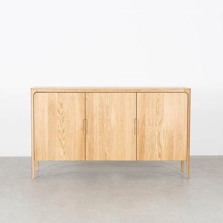 Rikke Highboard Cabinet Oak 3-door