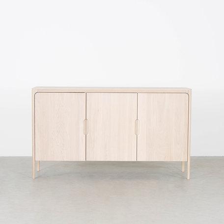 Rikke Highboard Cabinet Oak Whitewash 3-door