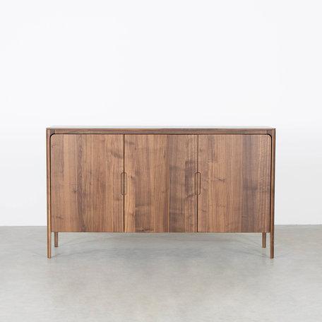 Rikke Highboard Cabinet Walnut 3-door