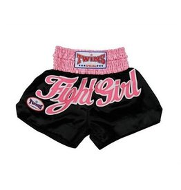 Twins TWINS- TTBL-12 DAMES KICKBOX SHORT ZW/ROZE
