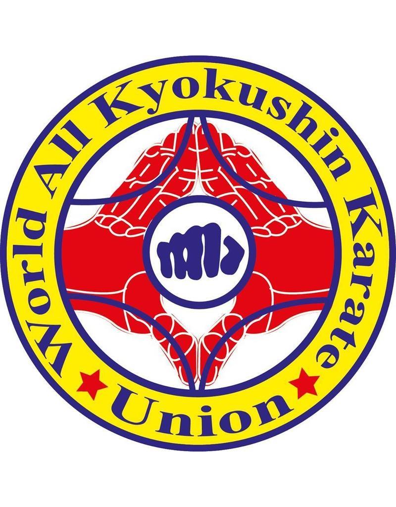 ISAMU WORLD ALL KYOKUSHIN KARATE UNION LOGO BORDURING