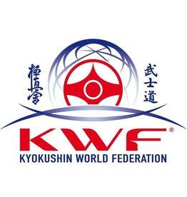 ISAMUFIGHTGEAR Kyokushin World Federation logo borduring