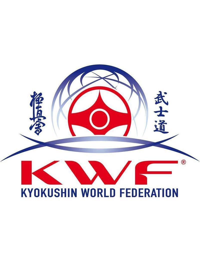 ISAMU Kyokushin World Federation logo borduring