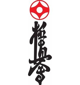 RED KANKU AND KYOKUSHIN KANJI EMBROIDERY