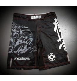 ISAMUFIGHTGEAR 勇ISAMU KYOKUSHIN KARATE FIGHT SHORTS-RYUU ZW/GRIJS