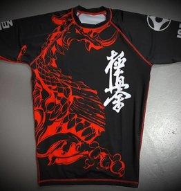 ISAMU 勇 ISAMU KYOKUSHIN KARATE FIGHT RASHGUARD-RYUU BLACK/RED
